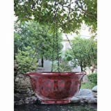 Hanging Planter Made of Fiber Clay in Red Marble Finish for Indoor or Outdoor Use Review