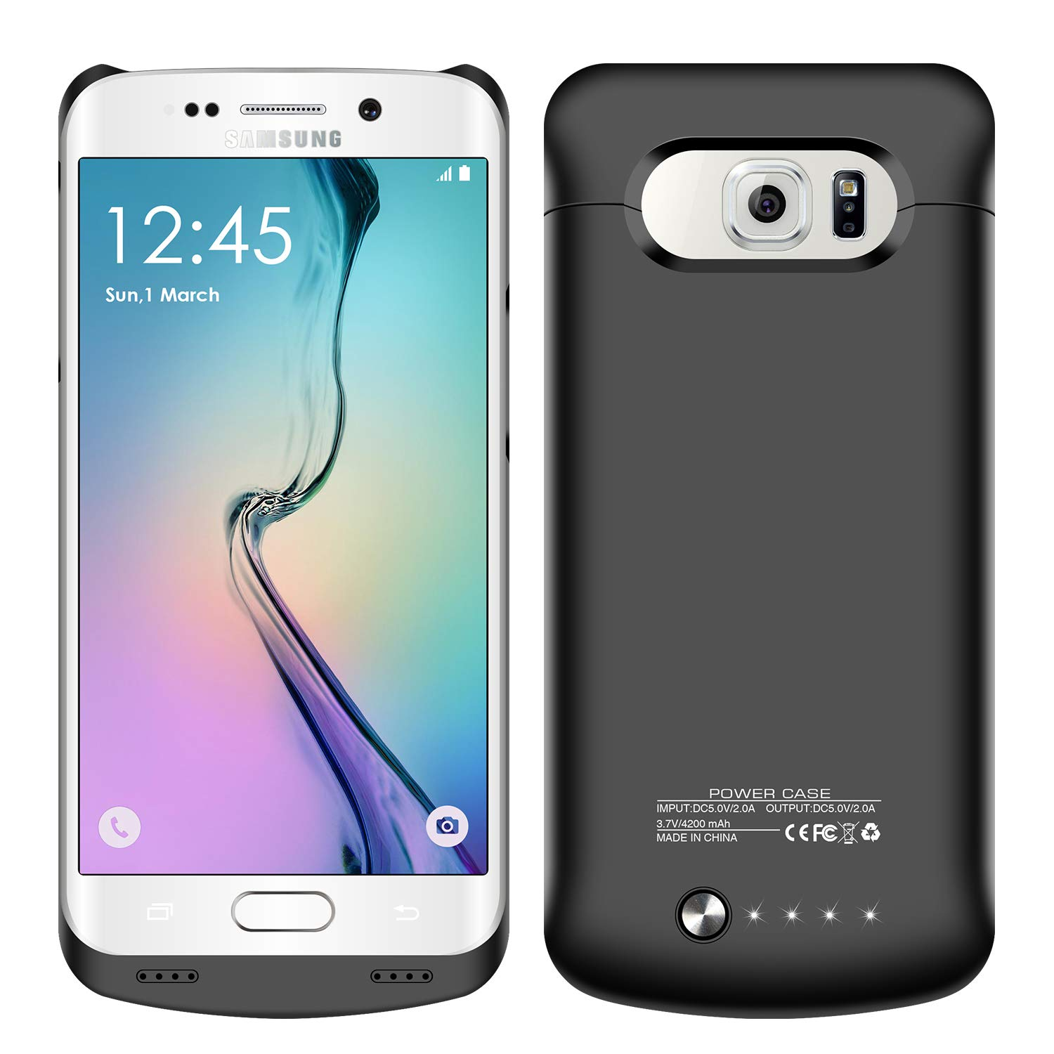 amazon com galaxy s6 edge plus battery case 4200 mah slim portable rh amazon com