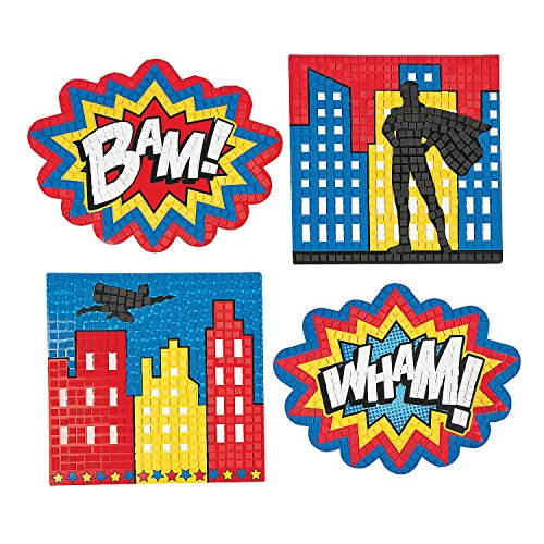 Superhero Extreme Mosaic Kit (4 piece) 12