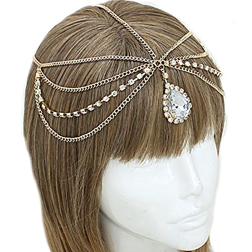 Price comparison product image Fashion Jewelry by SJA Fashion for Less | Draped Rhinestone Head Chain