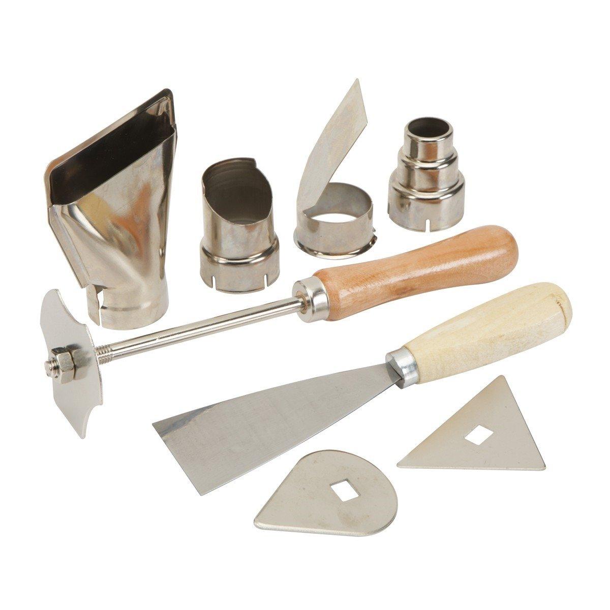 9 Pc Heat Gun Accessory Kit Putty Knife Scraper Spring Steel Head Soldering Welding Works Tools