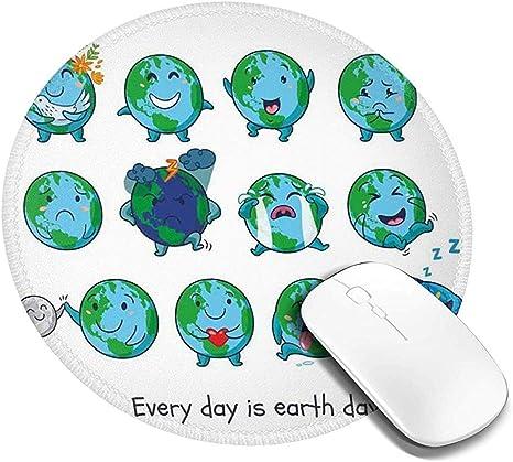 Alfombrilla de ratón Redonda, Planeta Tierra como Smiley ...