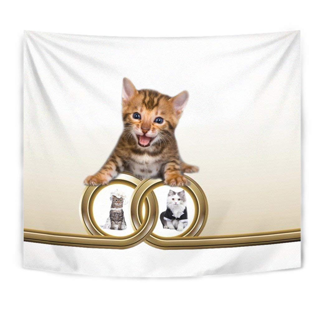 Cute Bengal cat Print Tapestry by Breedink