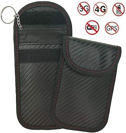 2X Car Key Signal Blocker Case Faraday Cage Fob Pouch Keyless RFID Blocking Bag
