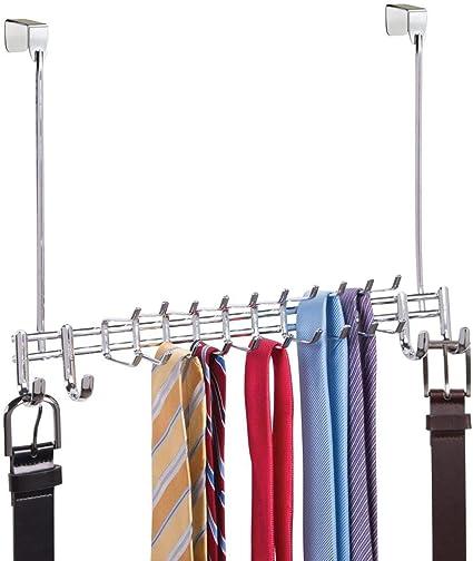 mDesign - Perchero-organizador de armario, para colgar sobre ...