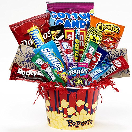 Art of Appreciation Gift Baskets Junk Food Junky Snacks and Candy Bouquet Gift Set (Snack Bouquets)