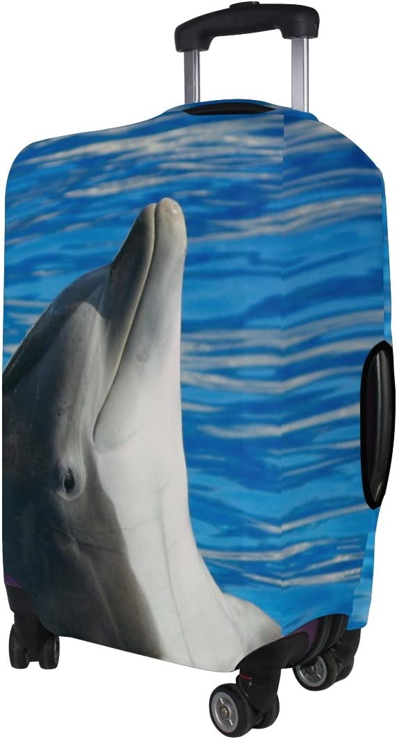 LEISISI Bottlenose Dolphin Luggage Cover Elastic Protector Fits XL 29-32 inch Suitcase