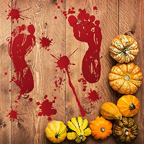 YuBoBo 60 PCS Halloween Decoration Removable Horror Bloody Handprints Footprints Decals Stickers, Halloween Vampire Zombie Party Décor Supplies by YuBoBo (Image #3)