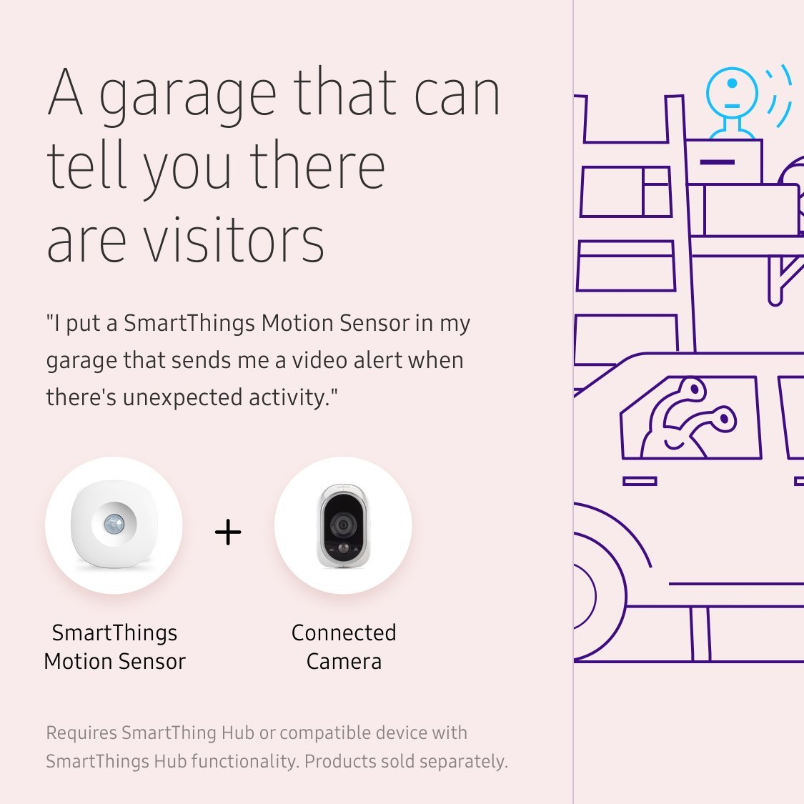 Samsung SmartThings Motion Sensor [GP-U999SJVLBAA] with Slim Design and Optional Automated Alerts - Alexa Compatible - White by Samsung (Image #5)
