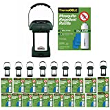 Thermacell MR-9L Outdoor Mosquito Repellers/Lanterns (10) & 20 Refill Packs Bundle (120 Mats, 20 Cartridges)