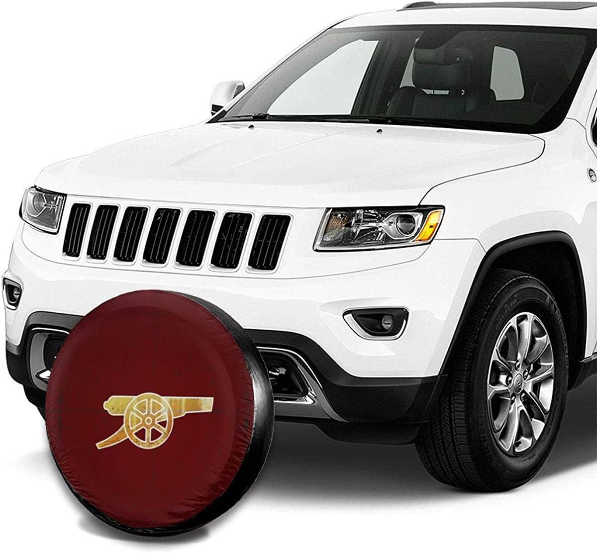 UTWJLTL Tire Cover American Eagle Flag Polyester Universal Spare Wheel Tire Cover Wheel Covers for Trailer RV SUV Truck Camper Travel Trailer Accessories 15 Inch