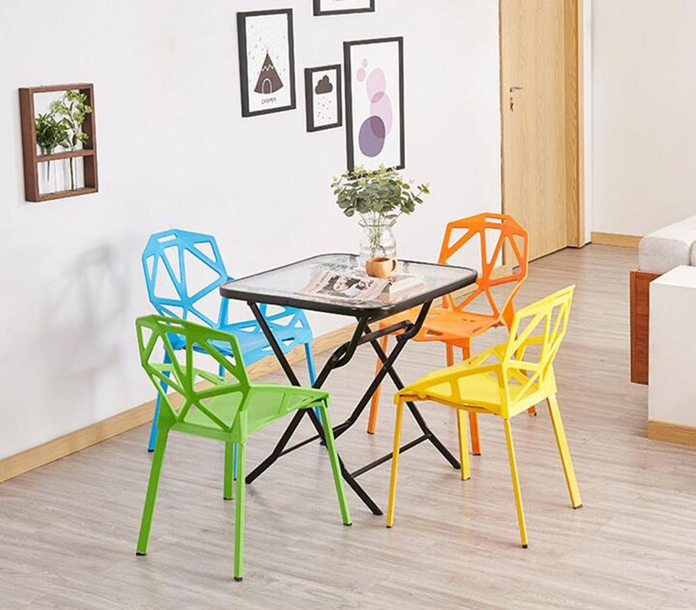 Xin-stool Chairs/Household Simple Plastic Stools/Individual tea shop tables/chairs/European dining table/chair/Creative lounge chair/Fashion stool/465581cm (Color : Green) by Xin-stool (Image #4)
