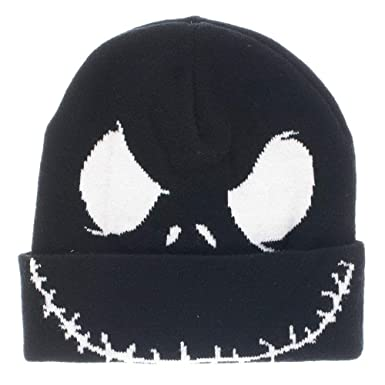 29f0d02972e0a Amazon.com  Nightmare Before Christmas Jack Face Cuff Beanie Winter ...