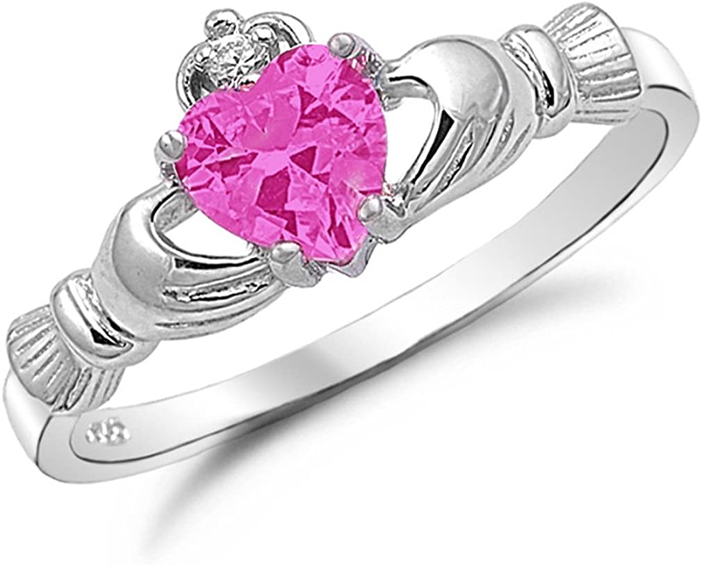 Sterling Silver Claddagh Ring Loyalty Irish Jewelry Friendship Love