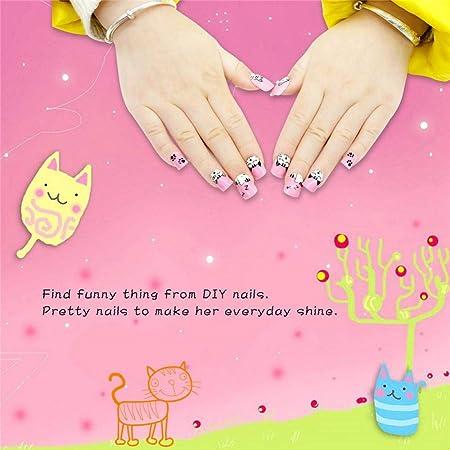 Amazon.com: Geometry Nail Art Tip ABS False Nails Perfect Length Full Cover Beauty Art Decoration Manicure for Women Teens Girls 24 Pcs(C27): Beauty