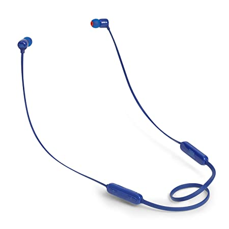 JBL T110BT Pure Bass Wireless in Ear Headphones with Mic  Blue  Mobile Phone Bluetooth Headsets