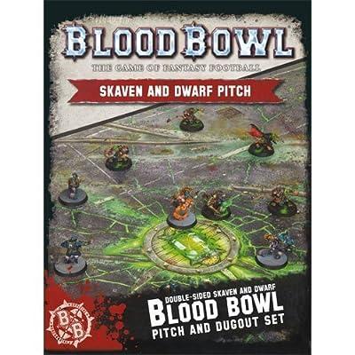 Warhammer Blood Bowl Skaven and Dwarf Pitch Set from Games Workshop
