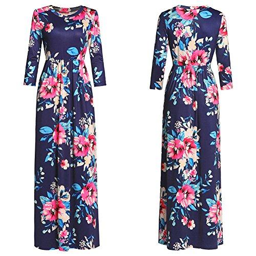 Dividida Imprimir Mujer Péndulo Para Vestido Fiesta Fiesta Vestidos Vestido real Azul Vestido De Camisa JIALELE Gran Nueve Mujer Mujer De gT0qazgw