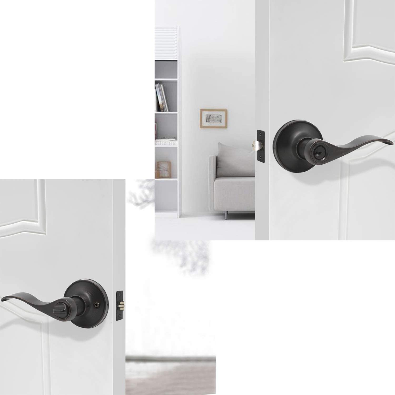 Exterior Door Lock Set with Single Cylinder Deadbolt Reversible ...