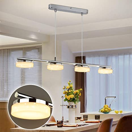 Dllt Led 4 Lights Pendant Light Modern Kitchen Island Lighting Fixture Adjustable Height Ceiling Mount Hanging Pendant Light For Contemporary Mid Century Dining Room Bar 20w 3000k Warm Light Chrome Amazon Com,Kitchen Corner Cabinet Storage Solutions
