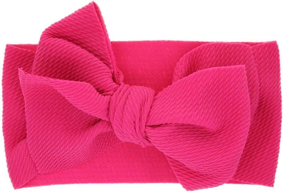 Knotted Baby Headband adjustable fabric solid color tie headband
