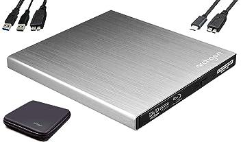 Archgon Star UHD 4K-Ultra HD BD Reproductor Player Externo, lectores grabadora de BLU-Ray BDXL para PC USB 3.0 USB-C, M-Disc, Caja de protección, ...