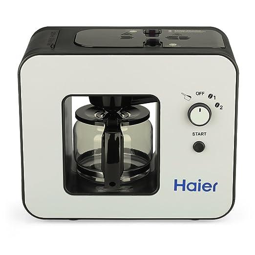 Haier SKL - D003 Máquina de Café con Molinillo Incorporado y Placa de Calentamiento (Cafetera Automática, Diseño Elegante, 4 Tazas, Acero Inoxidable) ...