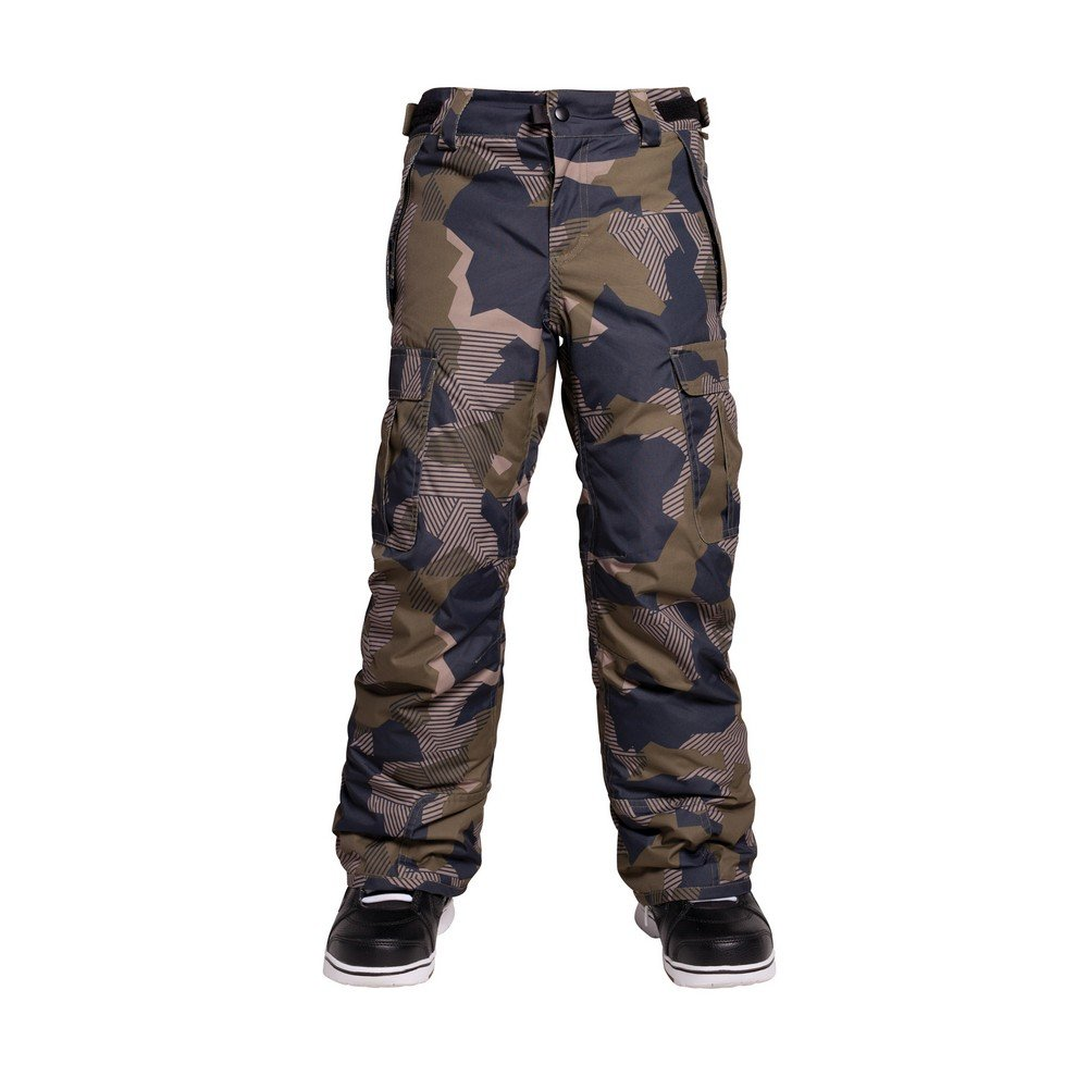 686 Boys All Terrain Insulated Pants, Olive Geo Camo, X-Large