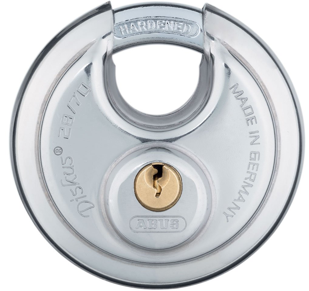 ABUS 28/70 B KD Buffo Diskus, Self Storage Stainless Steel Keyed Different Diskus Padlock