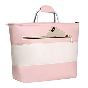 Lunch Bag, Wosweet Leakproof Insulated Lunch Box Cooler Bag For Women Girls And Kids, Lunch Container Tote Bag With Zapper & Pocket, Pink by Wosweet