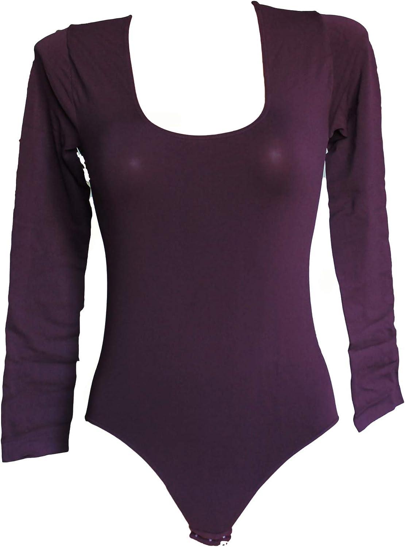SENSI Bodysuit Women Round Neck Long-Sleeved Microfiber Seamless Made in Italy
