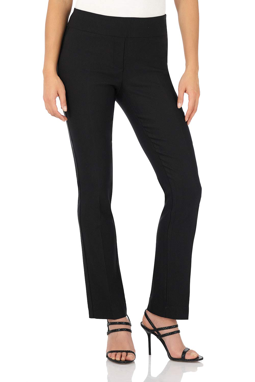 Rekucci Women's Ease Into Comfort Straight Leg Pant with Tummy Control