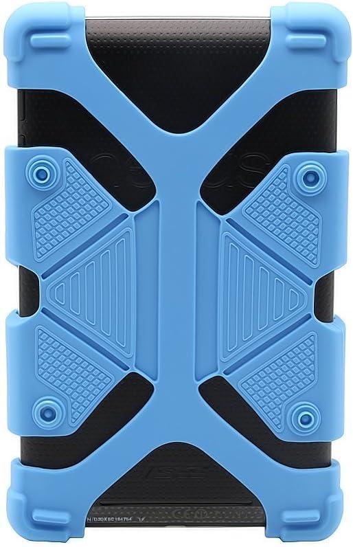 nbvmngjhjlkjlUK 7 Pulgadas 8 9 Pulgadas 10 Pulgadas Funda para computadora Tableta Tres Orificios Universal Universal Gancho de Cuatro Esquinas Funda de Cuero giratoria de 360 Grados Negro