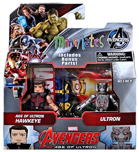 Marvel Avengers Age of Ultron Minimates Series 61 Hawkeye with Ultron Minifigure 2-Pack
