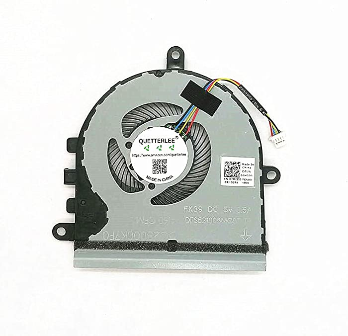 QUETTERLEE Replacement New CPU Cooling Fan for Dell Inspiron 15 5570 5575 3533 3583 3585 5593 P75F Laptop Series 07MCD0 DFS531005MCOT FK39 CPU Fan