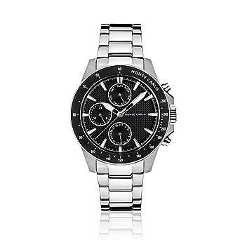 Relógio Monte Carlo Masculino em Aço Prata  Amazon.com.br  Amazon Moda 4ae4523b34