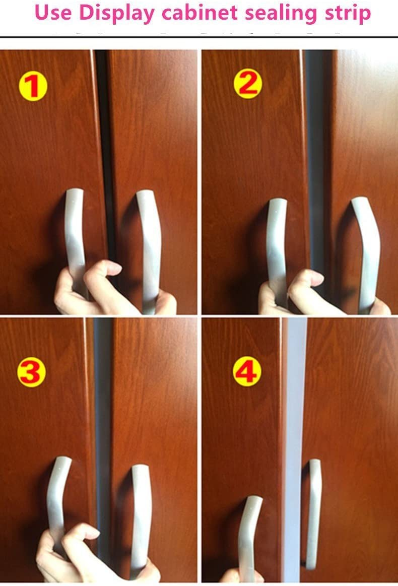 Frameless Weather Stripping Silicone Rubber Seal Window Door Sweep For -1-3//8 inch 5m 35mm WHITE Length Adhesive x 16 Feet