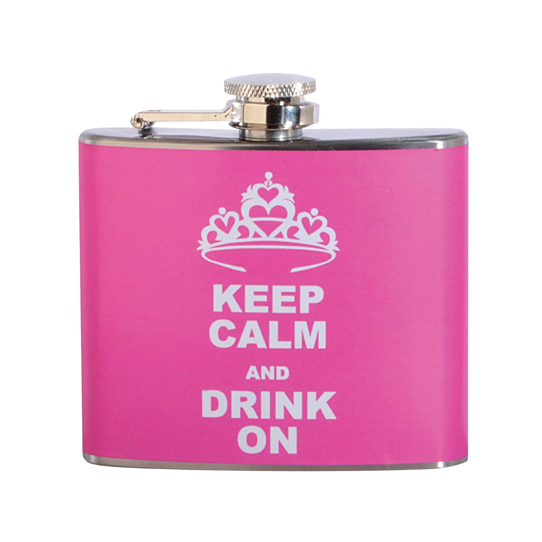 今年も話題の Keep On Calm and and Drink On 5オンスステンレス鋼フラスコ Drink B071SB8FDB, ラックタウン-収納用品の店-:ad2981fe --- a0267596.xsph.ru