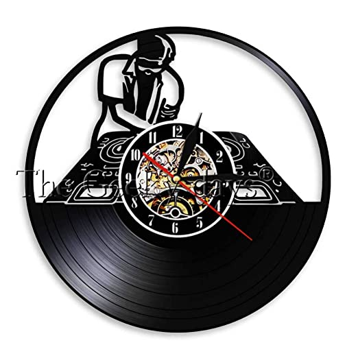 Record Player Mixer DJ Reloj de Pared Deejay Spinning Scratching ...