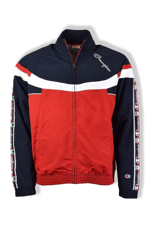 Champion Mens Full Zip Top - Navy/Red/White - S - Blue: Amazon.es ...