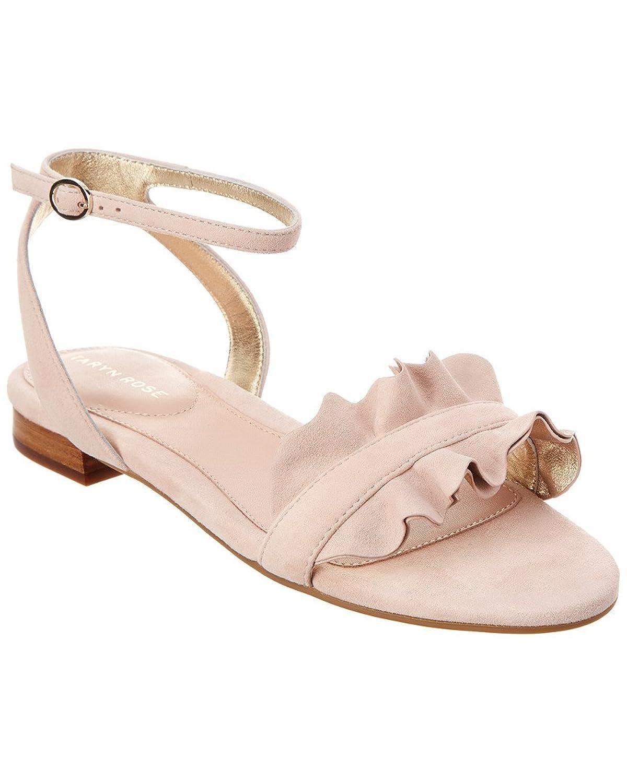 Taryn Rose Vesta Suede Sandal, 5.5, Pink by Taryn Rose
