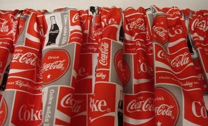 Amazon.com: Valance Coke Coca Cola Red White Gray Curtain ...