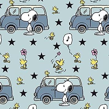 Snoopy Peanuts Vw Bus Bully Hellblau Blau Jersey Biostoff