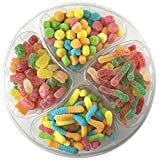 sour candy mix - Happy Candy Sour Gummi Mix Party & Gift Tray - Sour Gummi Bears and Worms & Sour Neon Gummi Poppers and Worms - Resealable, 2.5 lbs (40 oz)