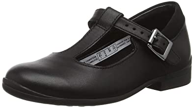 0f4d17e0adc8 Clarks Jamie Sky Kid Leather Shoes in Black  Amazon.co.uk  Shoes   Bags