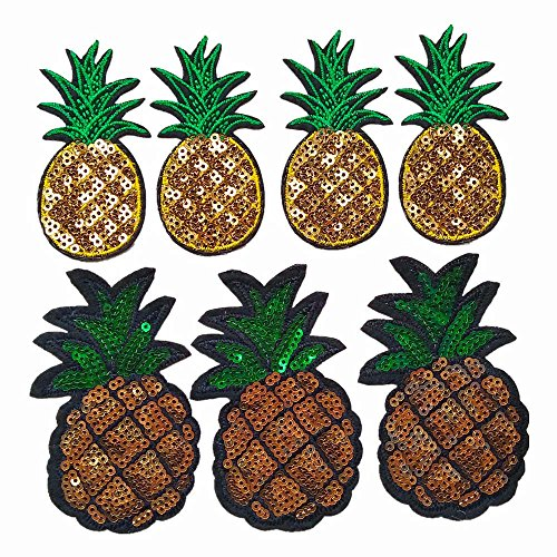 ssorted Styles Sewing on/Iron on Embroidered Patches Clothes Dress Hat Pants Shoes Curtain Sewing Decorating DIY Craft Embarrassment Applique Patches (Pineapple 20pcs) ()