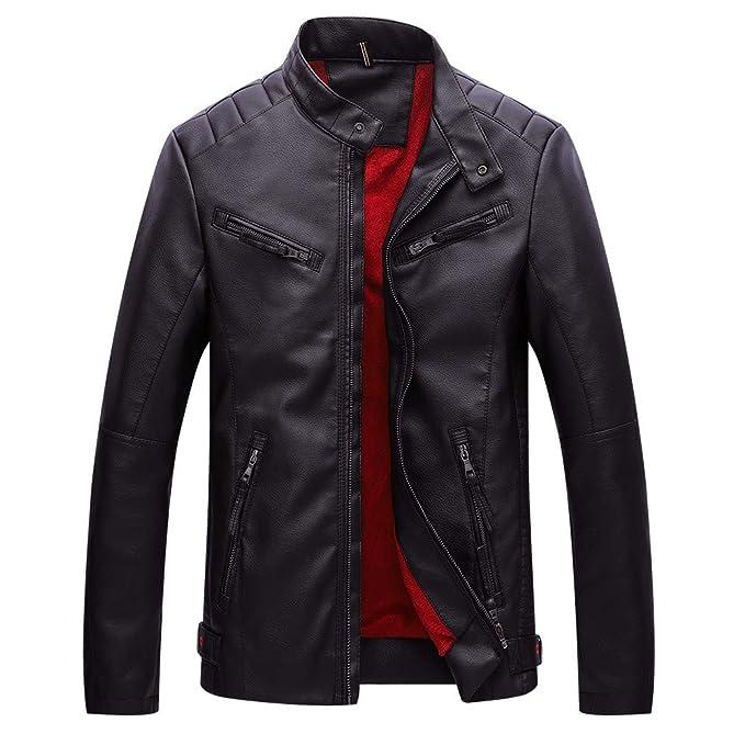 BBestseller Jacket de Montaña Esquí Impermeable para Hombres, Abrigo Bolsillo con Cremallera, Sudaderas de Manga Larga y Chaqueta de Cuero de Terciopelo: ...