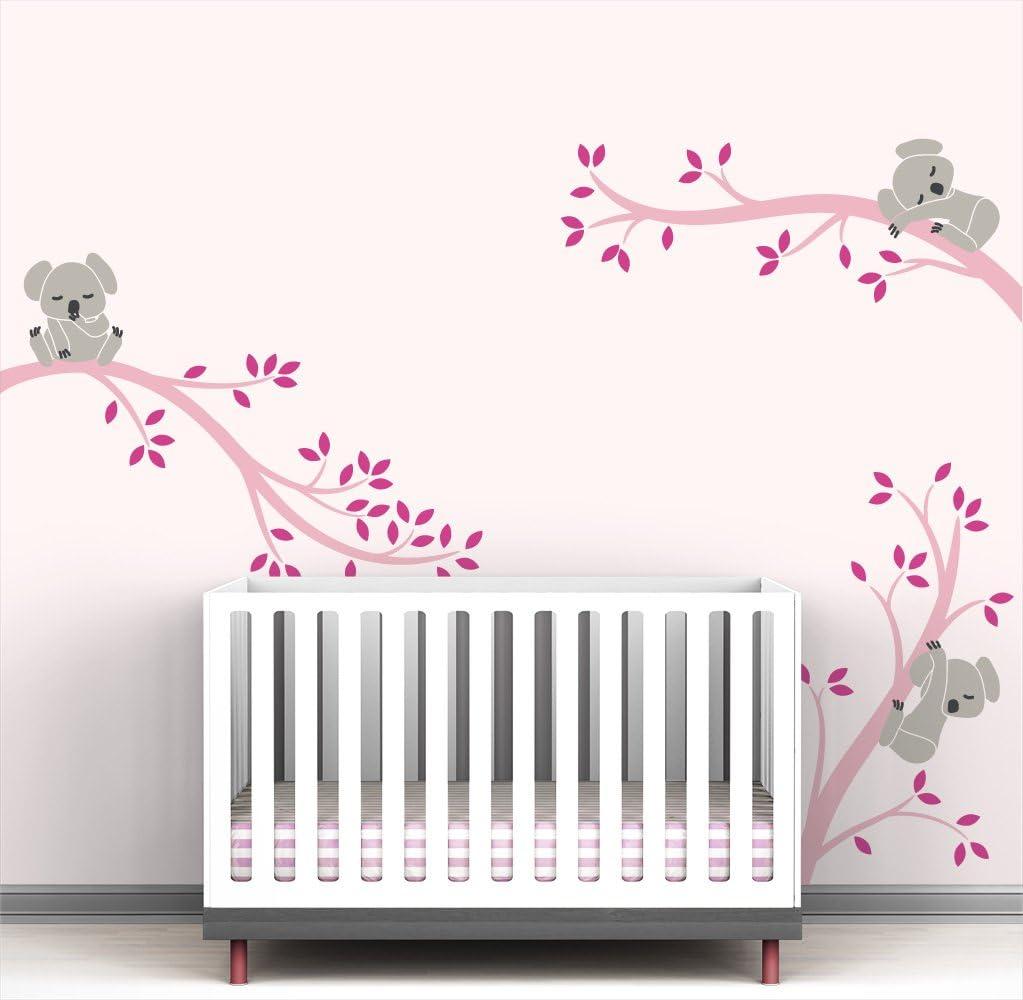 LittleLion Studio 047057074429751073000000 Monkey Tree Branches Wall Decal,Medium Gray//Light Pink//Warm Gray//Charcoal