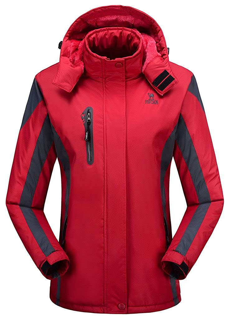 HengJia Womens Snowboarding Jacket Fleece Lined Ski Jacket Windbreaker Outerwear HengJia Trading Co. Ltd