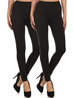 9d3b921329c2b ShoSho Women s Thick Cotton Terry Seamless Slimming Leggings (Plus ...